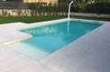 piscina rettangolare con appendice scala skimmer sfioratore