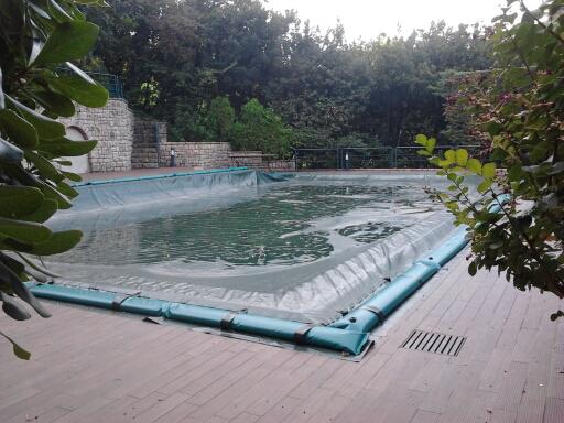 Copertura invernale piscine impermeabile con tubolari perimetrali