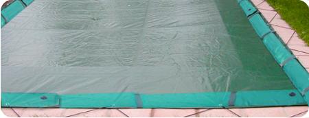 copertura impermabile piscina combinata tubolari e tiranti