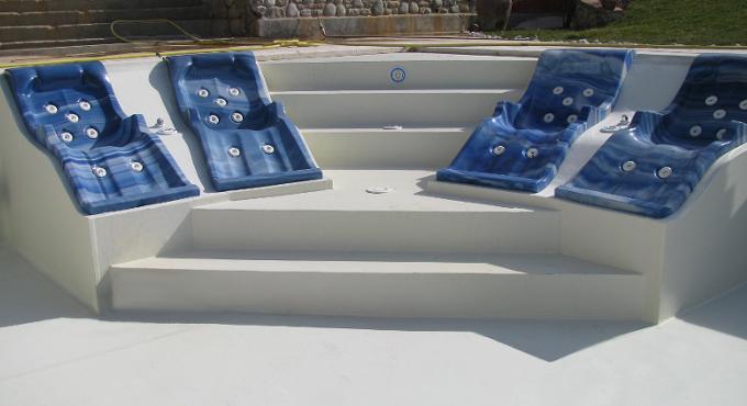 rivestimento piscina colore bianco