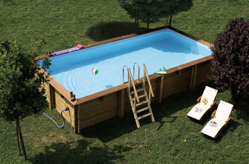 Piscine fuori terra in legno heron piscine - Piscina jacuzzi da esterno ...