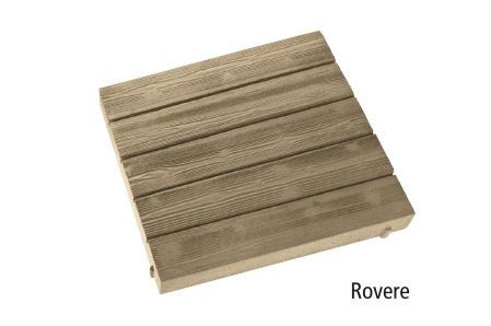 piastrella stile legno in pietra ricostruita effetto Rovere